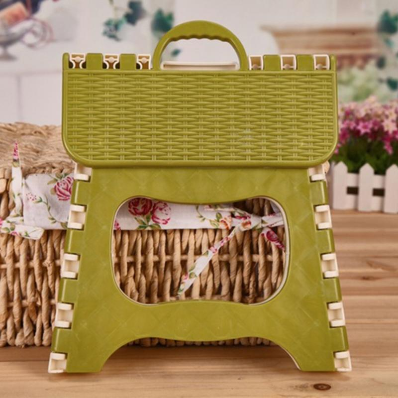Foldable Plastic Kids Adults Stool Outdoor Activity Bathroom Bench Portable Tool Home Traveling Necessity #3