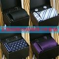 Moda Cufflink Conjunto Gravata Jacquard Laço Do Casamento Para O Noivo Terno Conjunto Gravatas Listradas Cravata Corbatas Tecidas Gravatas Dos Homens