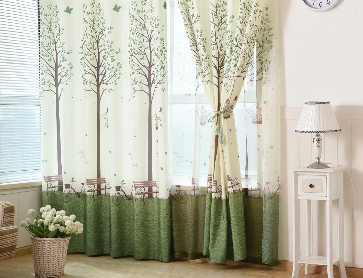 Trage soul koreaanse slaapkamer ramen zonwering curtainprinting