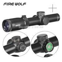 Охота Swarovskl 1 6x24 полный размер Riflescope красный Mil Dot оптические прицелы стекло гравированное сетка стрельба прицел Ak 47 Охота