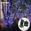 22 M 200led 12 M 100LED Solar Led cadena de luz RGB de un solo color de Luz de La Decoración para la Navidad del Jardín luz de Vacaciones al aire libre de Hadas