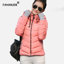 Down winter women jacket short design 2014 thickening cotton-padded clothing parka overcoat casual coat