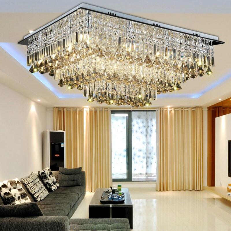 New modern chandeliers crystal lamp ceiling fixtures ac110 for Immagini lampadari moderni