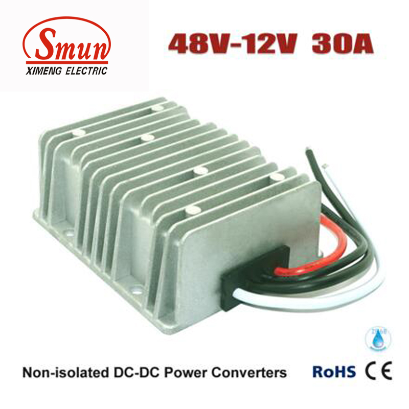 цена SMUN 48V TO 12V 30A 360W DC DC Step Down Converter Car Power Supply