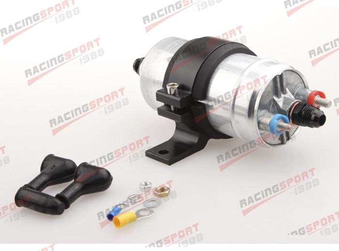 External Fuel Pump 044 for Bosch+Billet Bracket Black+12AN Inlet 8AN Outlet Black fuel pump 0580254044 0580 254 044 for 300lph high performance fuel pump