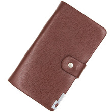 Book Style Leather Business Name Card Holder Brown Credit Card Wallet Business ID Credit Card Case Bag Office School Supplies
