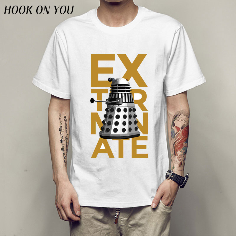 New Arrive 2017 Men's Doctor Who T shirt tardis DR WHO Printed T-shirts Summer Casual Tee Tops clothing