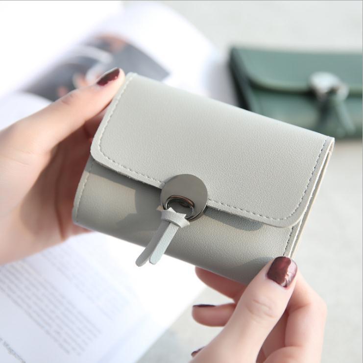 New Fashion Women Wallet Short PU Leather High Quality Trifold Girls Mini Purse Card Holder Bag Coin Purses Carteira Minimalist