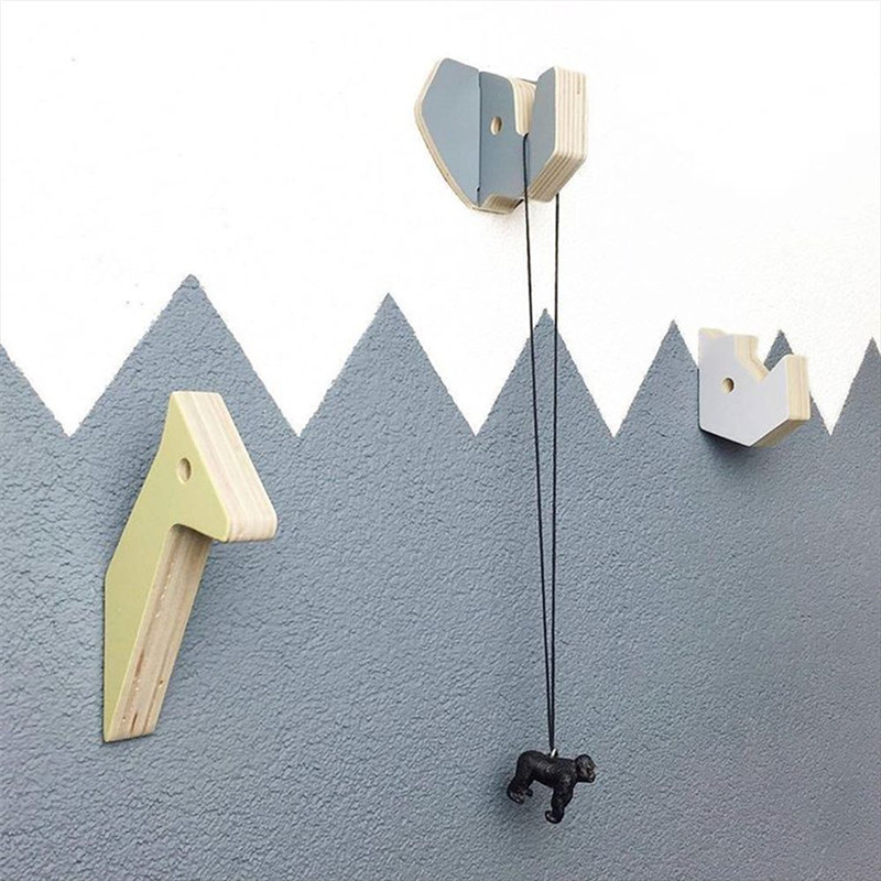 nordic creative wall clothes hooks wall sticker decoration clothing