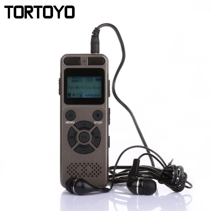 8 GB 16 GB 32 GB professionnel réduction du bruit enregistreur vocal numérique intelligent enregistrement HD à distance WAV MP3 enregistreur Audio son HIFI