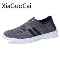 2018 verão homens correndo sapatos de malha respirável fundo macio anti deslizamento e passo sapato esporte luz para masculino feminino formadores sapato plano