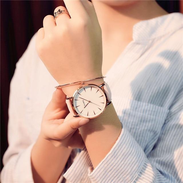 Exquisite simple style women watches luxury fashion quartz wristwatches ulzzang brand woman clock montre femme 1