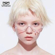 Umanco 2019 nova moda prata óculos quadro para mulheres homens designer de luxo marca rua fotografia menina presentes