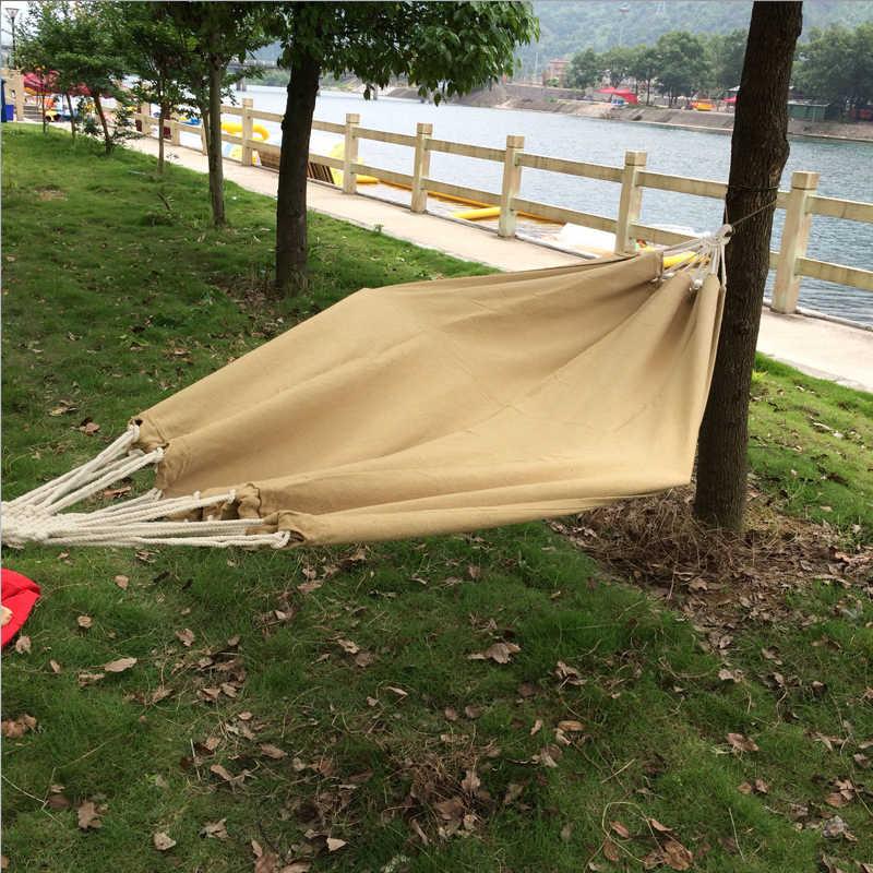 SAMIBULUO портативный хлопок веревка открытый качели Ткань Кемпинг гамак холщовая кровать сильный гамак