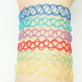 Handmade Hot Selling Vintage Stretch Tattoo bracelet Gothic Punk Grunge Henna Elastic with bracelet