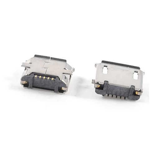 MYLB-5pcs USB マイクロタイプ B 5pin メスジャックコネクタ Smt 表面実装