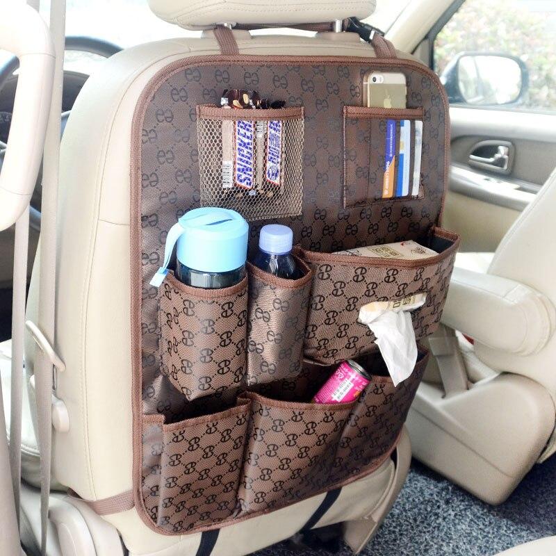 Заднем сиденье автомобиля организатор хранения протектор мобильного держатель мешка дети пьют карман для бутылки Оксфорд закладочных уборки авто аксессуары