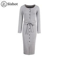 Sishot 여성 캐주얼 드레스 2017