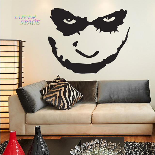 Aliexpresscom  Buy Batman The Joker Face Wall Decal Sticker Art - Custom made vinyl wall decals