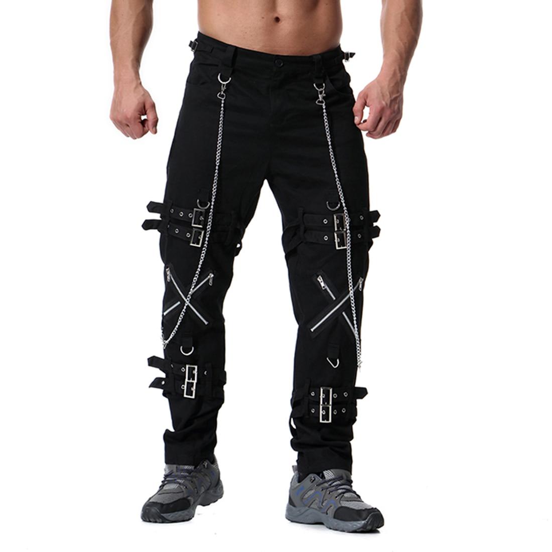 Muti Zippers Men's Cargo Pants Baggy Casual Fitness Men Joggers Sweatpants Trousers 2020 Summer Streetwear Mens Joggers Pants