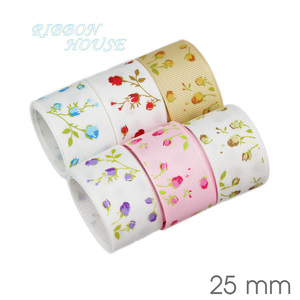 Image 4 - (6 Ribbon Mix) grosgrain ribbon printed lovely floral lace fabric satin ribbons (9/22/25mm)