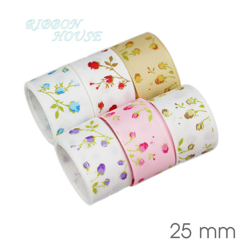 Image 4 - (6 Ribbon Mix) grosgrain ribbon printed lovely floral lace satin ribbons (9/22/25mm)-in Ribbons from Home & Garden