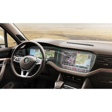 RUIYA (2-Packs) ПЭТ-экран Защитная пленка для Volkswagen Touareg Автомобильный сенсорный дисплей экран, защита от невидимая прозрачная