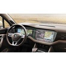 RUIYA 2 упаковки ПЭТ экран Защитная пленка для Volkswagen Touareg автомобиля сенсорный центр дисплей экран, невидимая прозрачная защиты