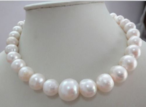 HOT HUGE 11-14MM WHITE JAPANESE southsea PEARL NECKLACE ^^^@^Noble style Natural Fine jewe FREE SHIPPING цена и фото