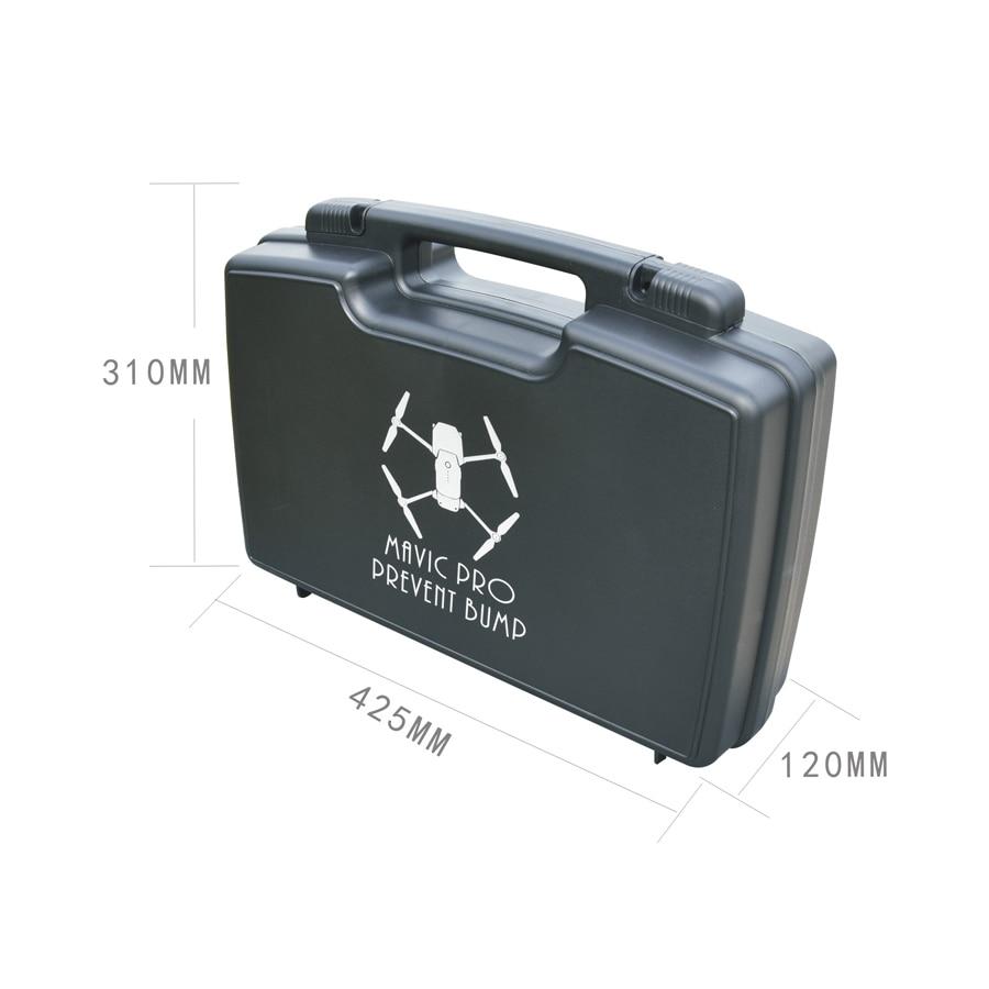 New Mavic Pro Black Backpack Waterproof Protective Portable Aluminum Box Case Stronge Protection for DJI Mavic Pro rc drone