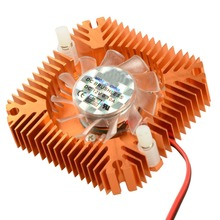 55 мм 2 PIN видеокарты охлаждающий вентилятор Радиатор кулер подходит для персональных компонентов компьютера алюминиевые золотые вентиляторы кулер