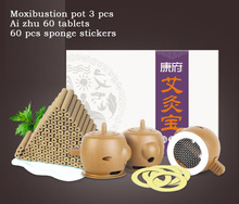 Moxibustion 60 Grain+Moxibustion pot 3 pcs Of Moxa Moxibustion Instrument For Family Household Portable Moxibustion Box pure copper stainless steel lumbar abdomen moxibustion box eight league moxibustion apparatus of department of gynaecology