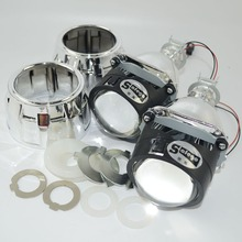 2pc bixenon lens with Shroud 2.5inch  projector lens for H4 H7 Bi xenon bi-xenon lens H1,H11,9005,9006 car hid headlight
