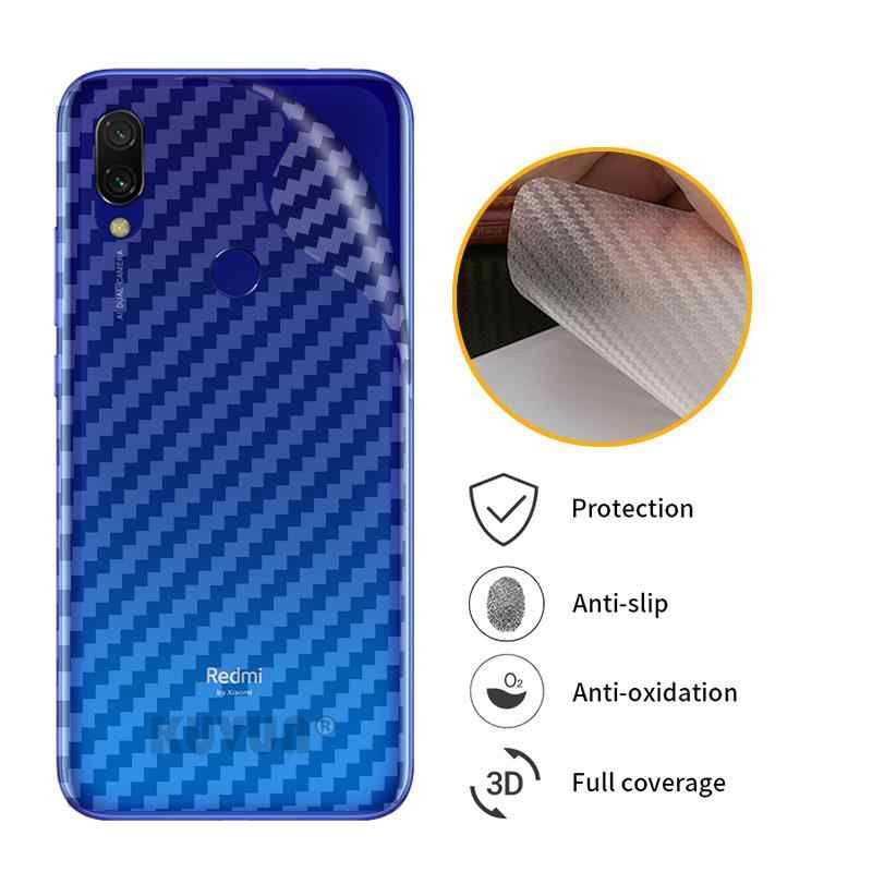 3D Carbon Fiber Protective Back Film For Xiaomi Redmi GO S2 Y2 7 7A Back Screen Protector Film Sticker For Xiaomi Mi Paly
