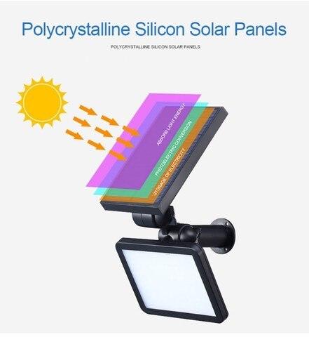 dcoo 48led sensor de movimento energia solar