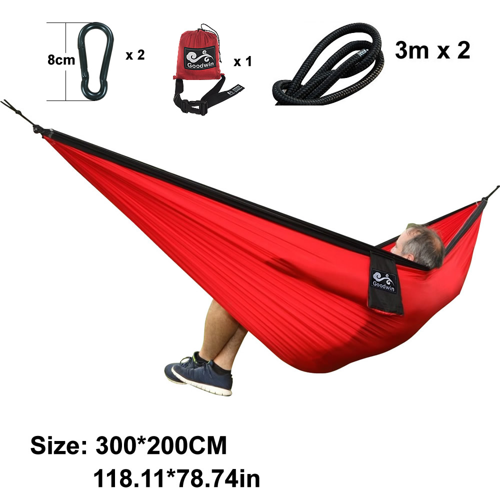 fabric double on furniture bed swing parachute nylon item sleeping portable hammock hammocks in color camping person assorted outdoor hanging from