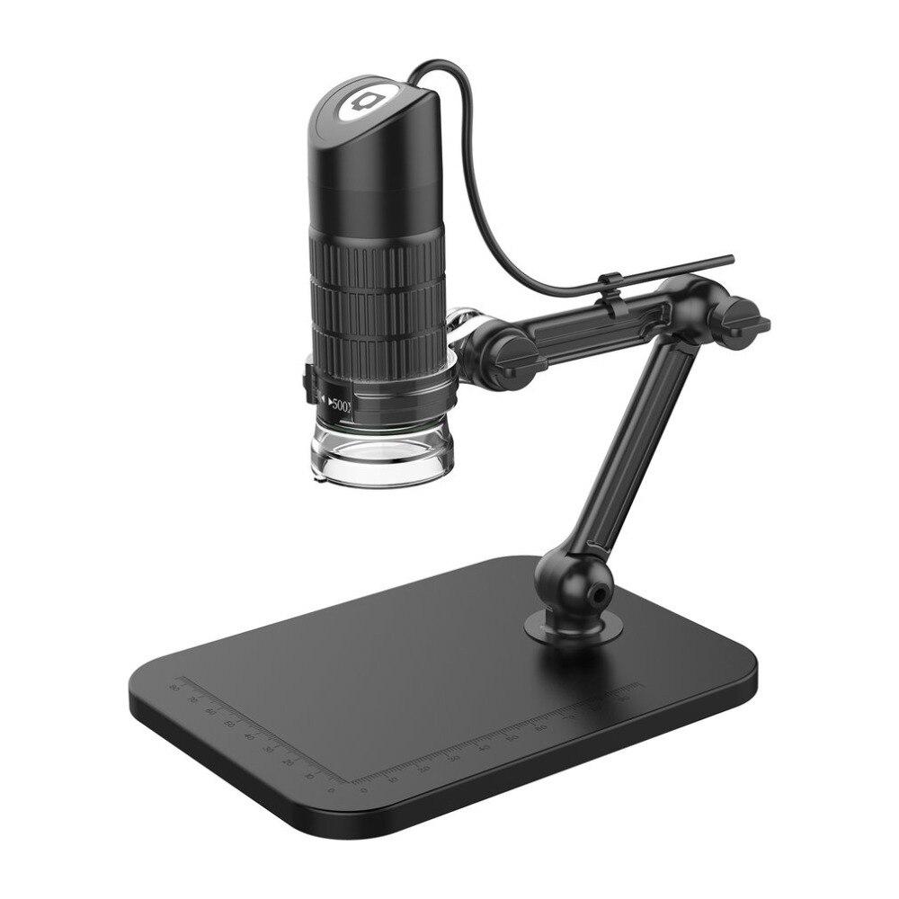 500X 800X 1000X USB HD foto in formato Elettronico Stereo Microscopio Esposizione Microscopio Digitale Con 8 LED Luce Lente di Ingrandimento Ottico Video Macchina Fotografica