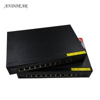 ANDDEAR BO7 48v 8 port gigabit unmanaged poe switch 8*10/100 mbps POE poort; 2*10/100/1000 mbps UP Link poort; NVR poort