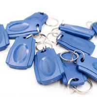 50PCS TK4100 125KHz RFID Proximity ID Keyfobs Color Blue for Access Control