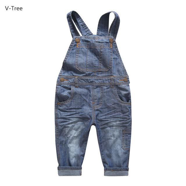 2016 Venda Quente Meninos & Meninas de Jeans Macacão Jeans Crianças Calças de Algodão Macio Do Bebê Crianças Primavera Outono Inverno Roupas Jeans