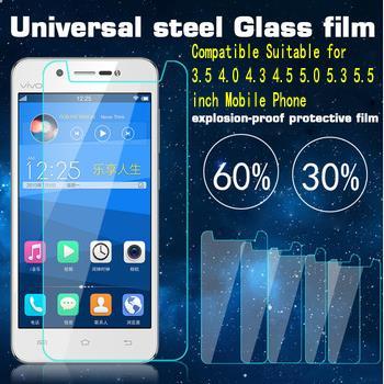 imágenes para 10 unids/lote 9 H Vidrio Templado Film Protector Universal para 3.5 3.7 4.0 4.3 4.5 4.7 5.0 5.3 5.5 5.7 6.0 pulgadas del teléfono móvil
