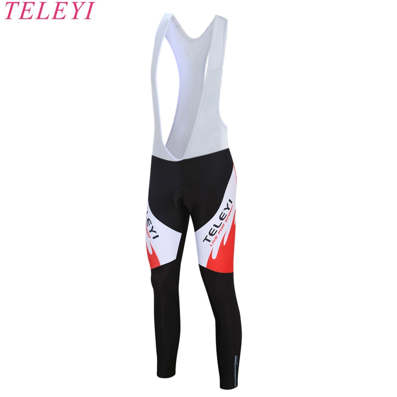 2017 TELEYI Brand Spring Cycling Bib Pants With Gel Pad/ Pro Bicycle Pants/100% Lycra Bicycle Pants/MTB Bike Riding Shorts