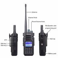 band uhf vhf Band Dual DMR RETEVIS Ailunce HD1 הדיגיטלי מכשיר קשר רדיו חובב Ham (GPS) 10W VHF UHF DMR שתי דרך רדיו משדר + כבל (4)