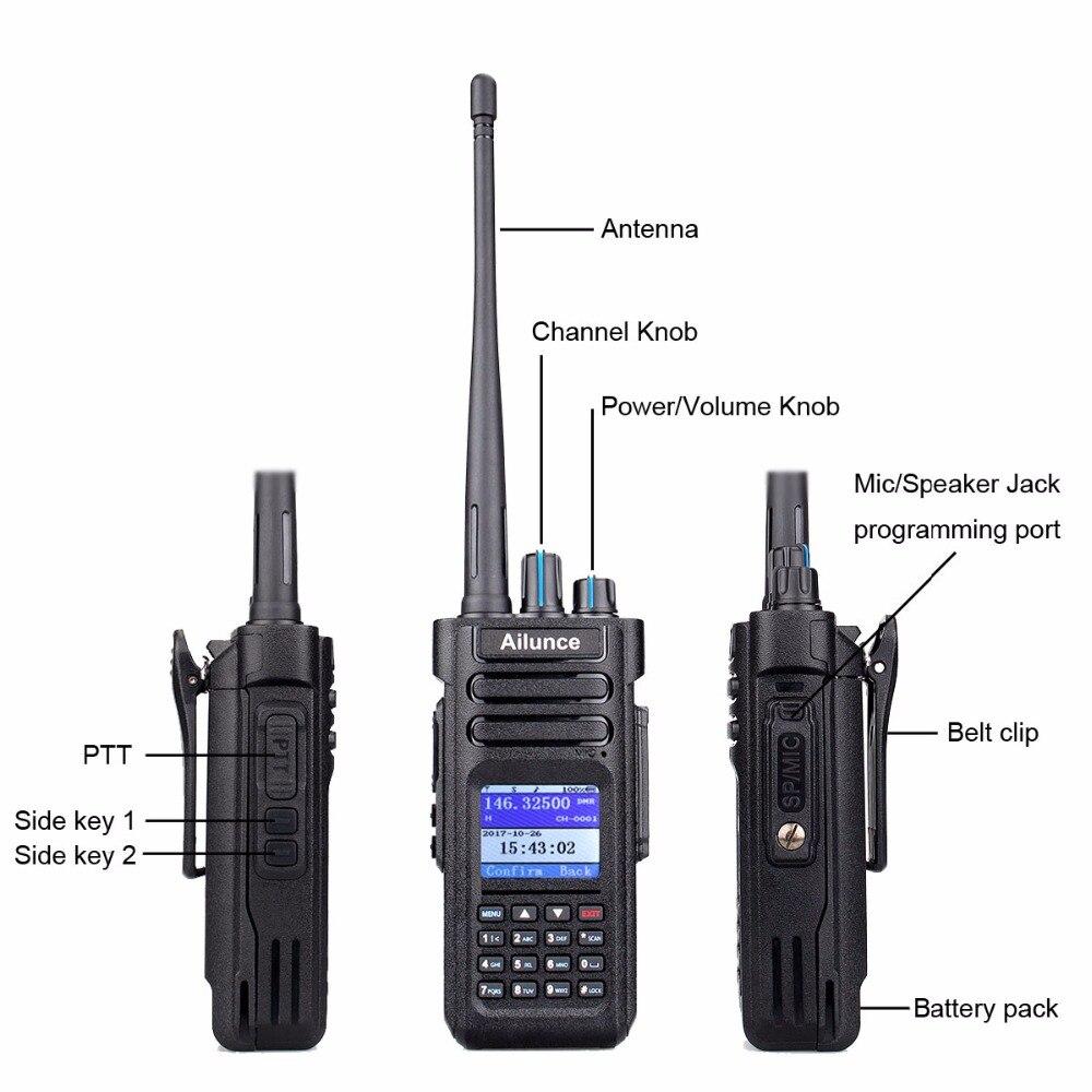 Image 3 - RETEVIS DMR Radio Ailunce HD1 Ham Radio IP67 Waterproof Digital Walkie Talkie (GPS) 10W VHF UHF Dual Band Two Way Radio Amador-in Walkie Talkie from Cellphones & Telecommunications