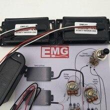 Активный звукосниматель электрогитары Хамбакеры с 25 к потенциометра монтажные аксессуары+ установка чертеж