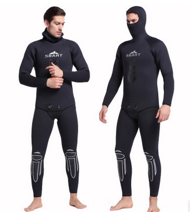 Men Full High Elastic Body 5MM Diving Suit Long Sleeve Wetsuit Diving Suit Sunblock Wetsuit for