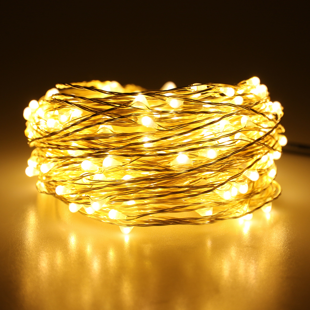 66ft 20m 200 Leds Outdoor Christmas Fairy Lights Warm