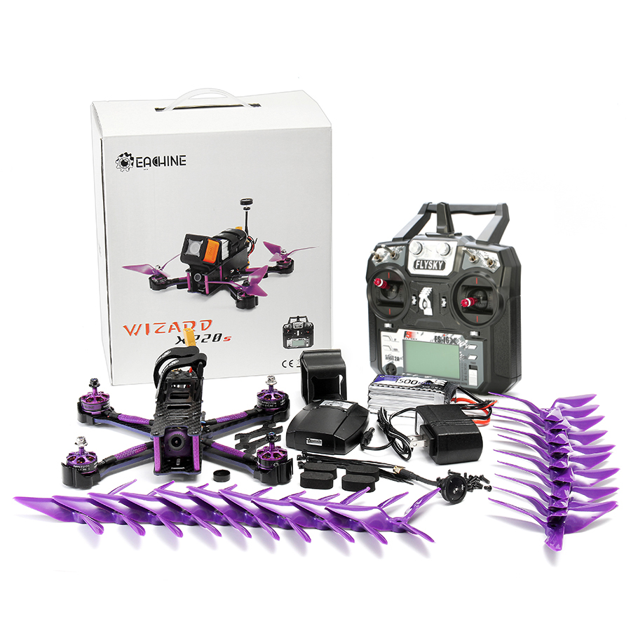 Eachine Wizard X220S F4 5.8G 72CH 30A Dshot600 800TVL Flysky FS-i6X Transmitter w/ A8S Receiver RTF  FPV Racer RC Drone 19