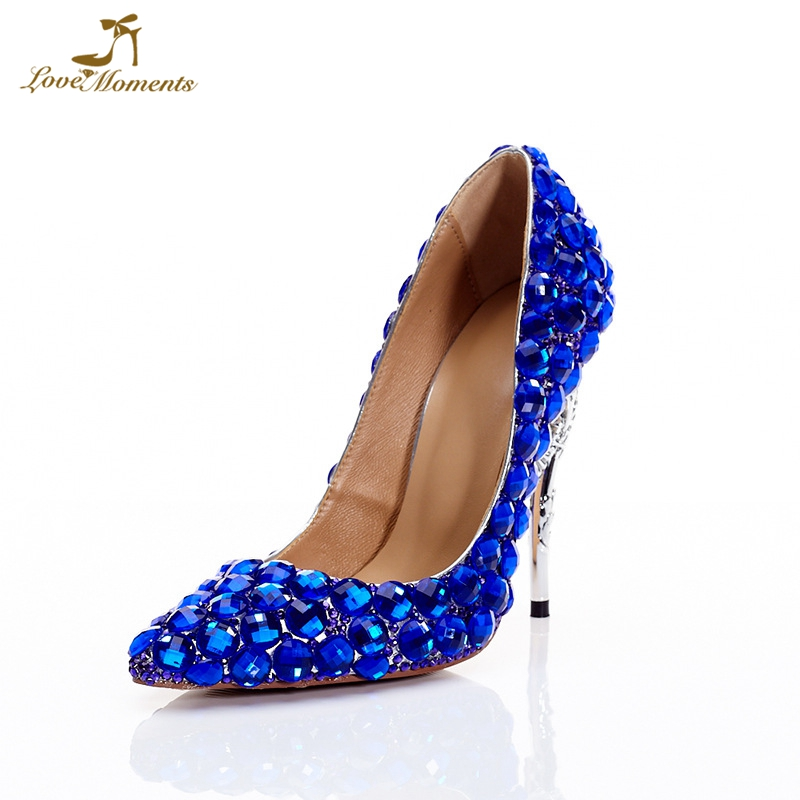 2019 Royal Blue Wedding Party Formal Dress Shoes Lady Matric