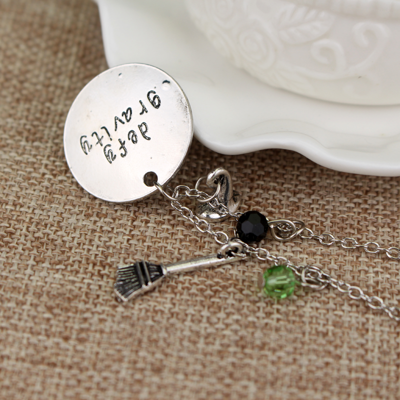 Wicked the Musical inspired necklace defy gravity Elphaba Glinda Wicked necklace